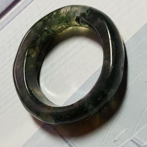 Amazing Green Jade Ring Natural Gemstone Wedding
